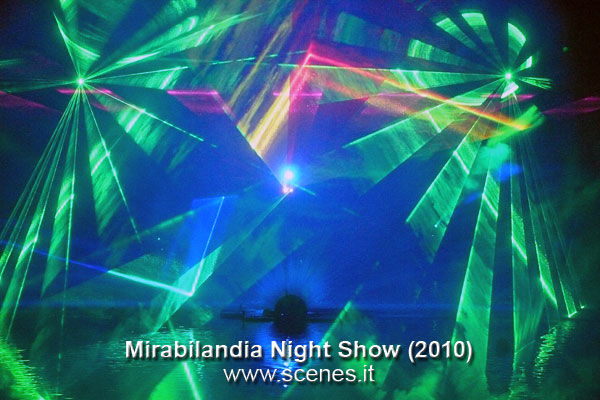 mirabilandia laser show night show 2010 luci video scenes