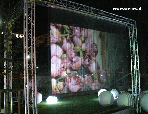 Muro D Acqua Per Interni : Schermo di fumo fog screen aria h o vapor water screen projection