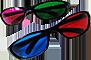 occhiali stereoscopici anaglifici 3d dlp link x102 3d vision polarizzati lineari circolari real d elettronici shutter attivi anagliph 3d glasses xpand x102 geforce 3d vision